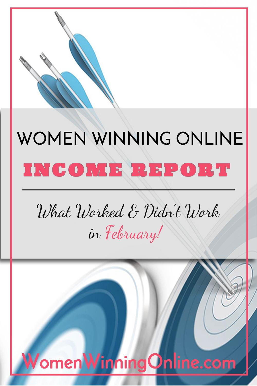 Women Winning Online Blog Income Report