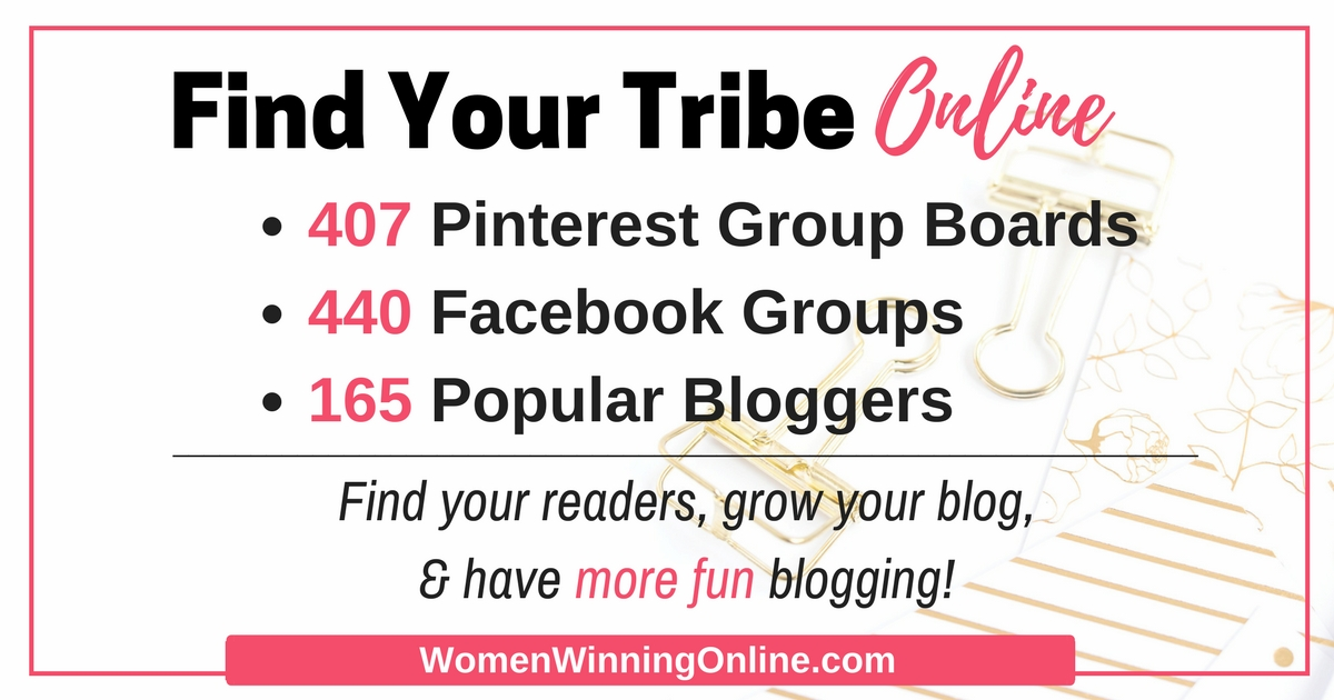 Find Your Tribe Online, Grow your blog traffic fast