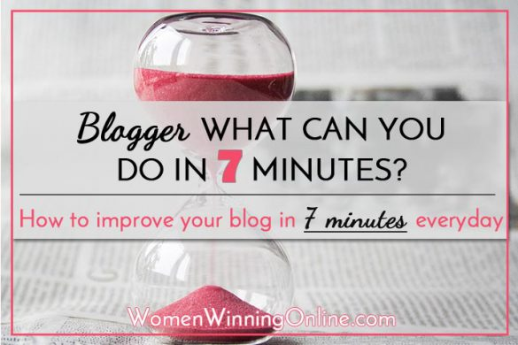 How to grow your blog in just 7 minutes a day!