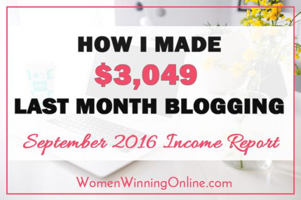 Want to see how I earned $3,049 on my blog in September? Click thru to my blog income report to find out how!