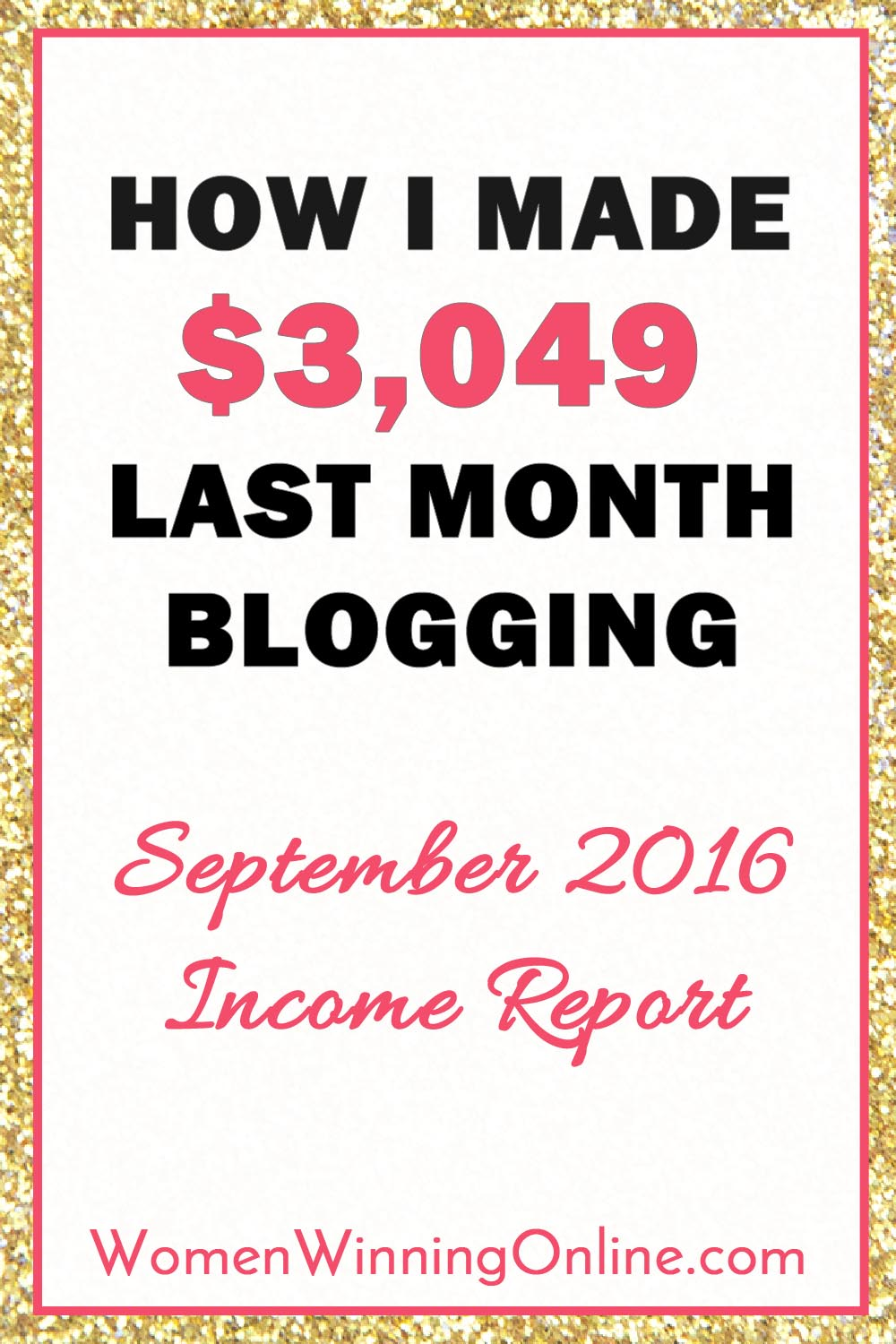 September 2016 Blog Income Report