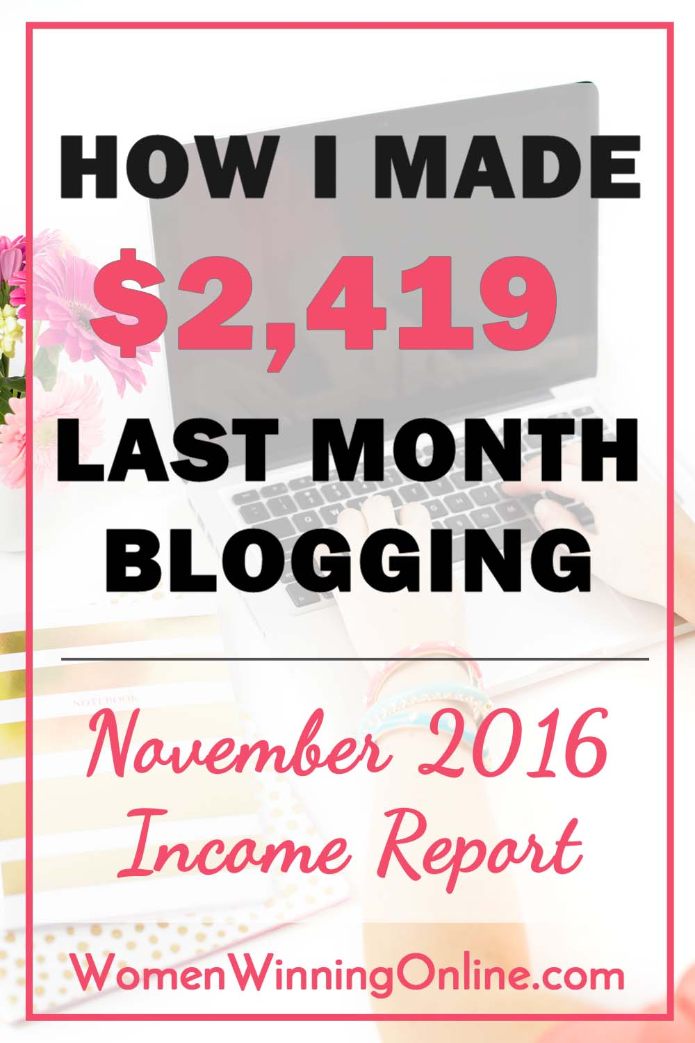 November 2016 blog income report