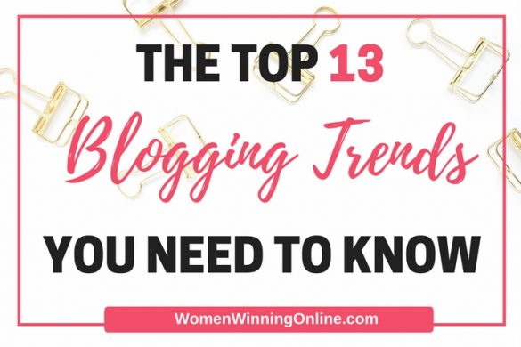 Are you focusing on the right things to get blog traffic in 2017? Check out my top 13 trends you need to know to grow your blog!
