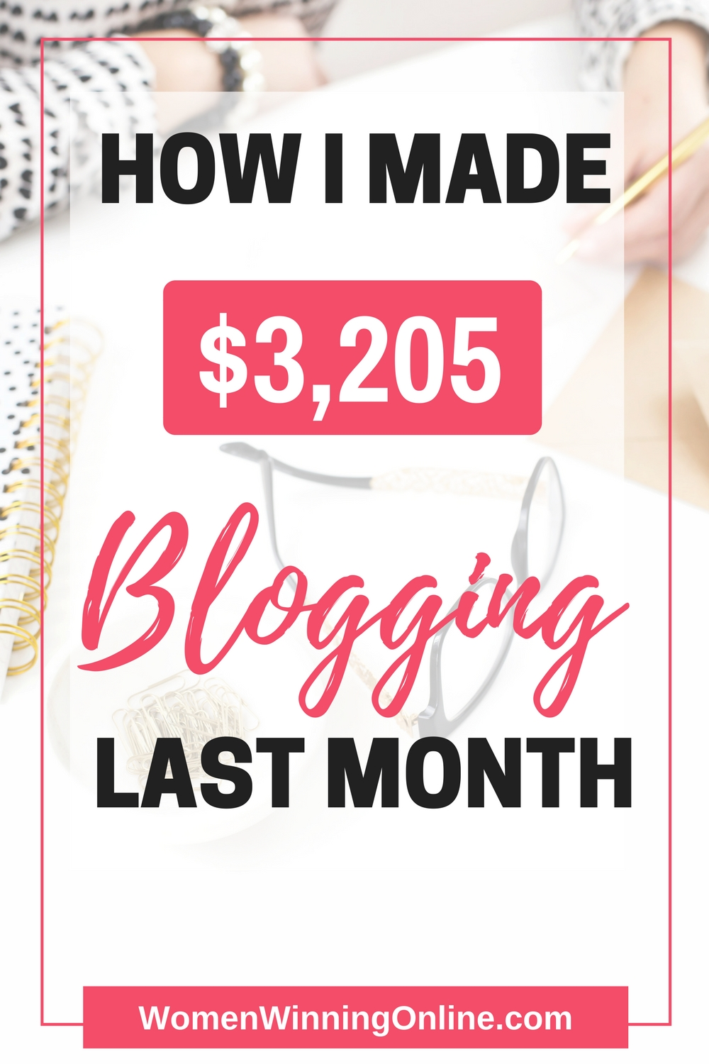 Curious how I made $3,205 blogging? Click through to find out in this month's blog income report!