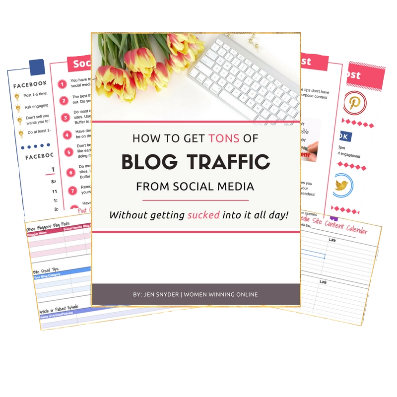 How to get blog traffic from Facebook, Pinterest, and Instagram without getting sucked in all day