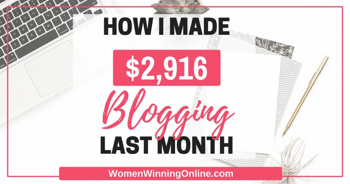 In February 2017 I made $2,916 blogging. Click through to find out how!